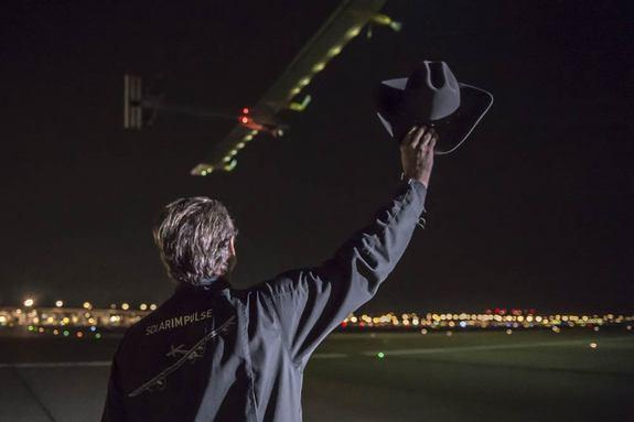 Solar Plane Makes Dramatic Landing in NYC to End Cross-Country Flight