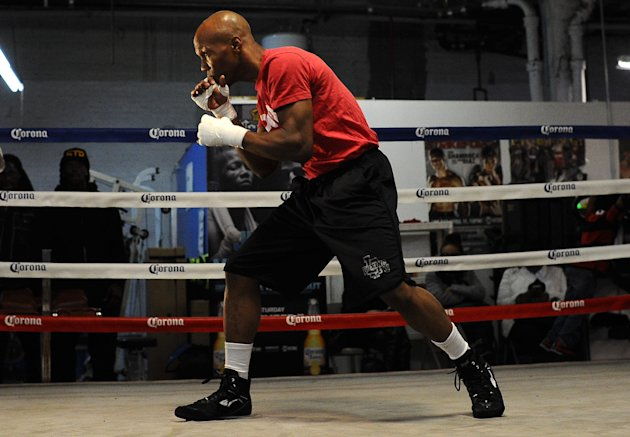 NEW YORK, NY - DECEMBER 04: Zab Judah works out during a training session for his upcoming fight against Paulie Malignaggi at Judah Brothers Gym on December 4, 2013 in the Brooklyn borough of New York City. (Photo by Maddie Meyer/Getty Images)
