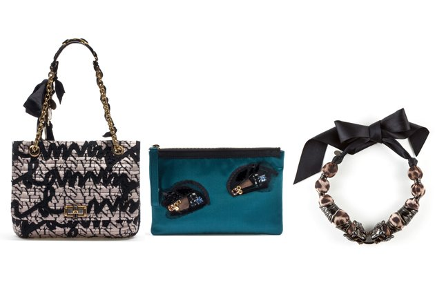 Happy Les 10 Ans Bag (ca. 1830 Euro), Les 10 Ans Eye Clutch (ca. 360 Euro) und Les 10 Ans Panther Necklace (ca. 1700 Euro) (Bilder: PR)
