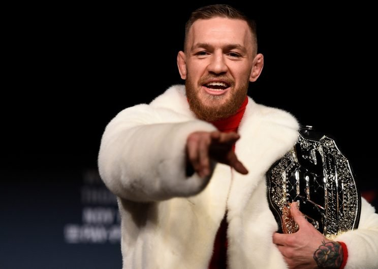 Conor McGregor has pulled no punches in prodding Floyd Mayweather on social media. (Getty)