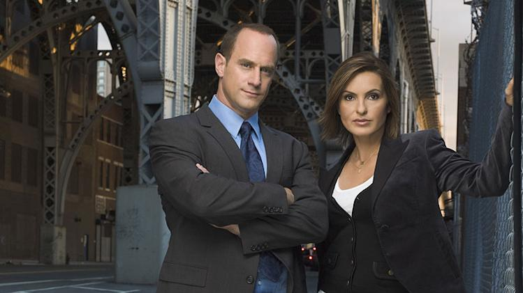 "Christopher Meloni and Mariska Hargitay in the NBC series ""Law & Order: Special Victims Unit"""