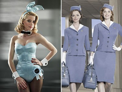 "With ""The Playboy Club"" and ""Pan Am,"" skin is in (John Russo/NBC, Bob D'Amico/ABC)"