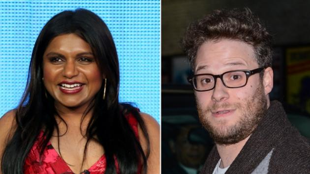 Mindy Kaling, Seth Rogen -- Getty Images