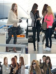 Girls' Generation show stylish airport fashion