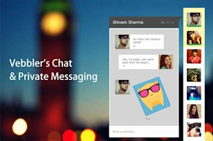Vebbler Launches Messaging App On Its Social Network With Custom Made Stickers image Vebbler Chat app 1024x682