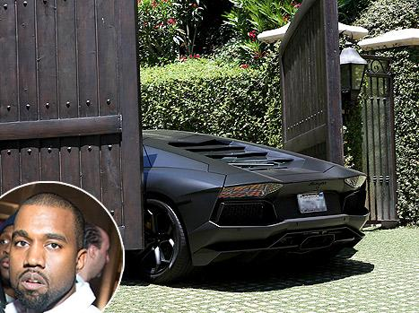 Kanye West's $750,000 Lamborghini Hit By Kim Kardashian's Electric Front Gate: Picture