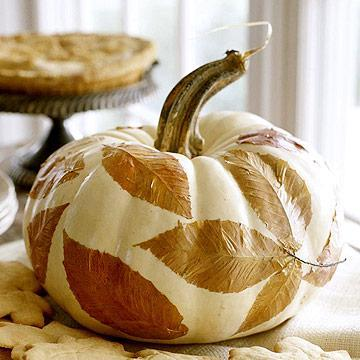 Decoupage a Pumpkin