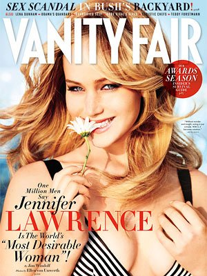 Jennifer Lawrence on Vanity Fair's February 2013 issue