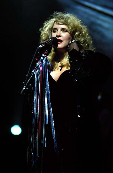 On stage with Fleetwood Mac in 1990