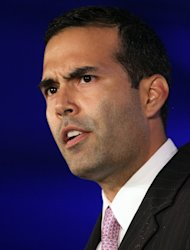 NEW ORLEANS, LA - JUNE 18: George P. Bush speaks during the 2011 Republican Leadership Conference on June 18, 2011 in New Orleans, Louisiana. The 2011 Republican Leadership Conference features keynote addresses from most of the major republican candidates for president as well as numerous republican leaders from across the country. (Photo by Justin Sullivan/Getty Images)