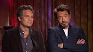 Mark Ruffalo and Robert Downey Jr. chat with Access Hollywood at 'The Avengers' junket in Los Angeles on April 13, 2012 -- Access Hollywood