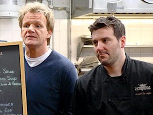 Gordon Ramsay and Joe Cerniglia in