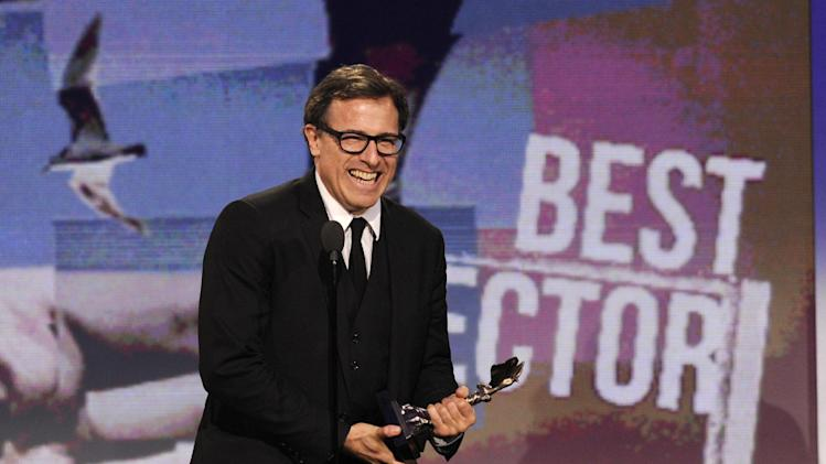 "Director David O. Russell accepts the award for best director for ""Silver Linings Playbook"" at the Independent Spirit Awards on Saturday, Feb. 23, 2013, in Santa Monica, Calif. (Photo by Chris Pizzello/Invision/AP)"