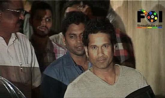 Sachin Tendulkar At The Screening Of 'Balak Palak'