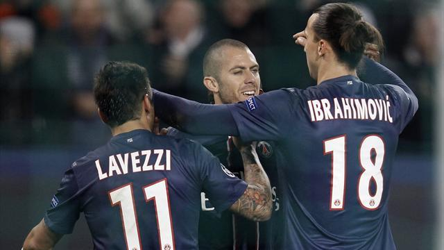 Ligue 1 - PSG's Ibrahimovic, Lavezzi set to test Troyes