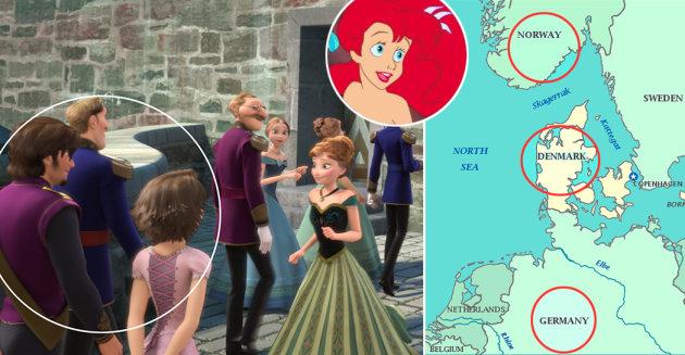 Rapunzel, Elsa, Ariel