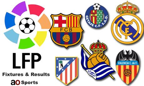 Spain La Liga fixtures and results (34th matchday)
