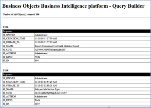 5 Tips to Display Business Objects Report Dates and Use Query Builder image BusinessObjectsQueryBuilderResults