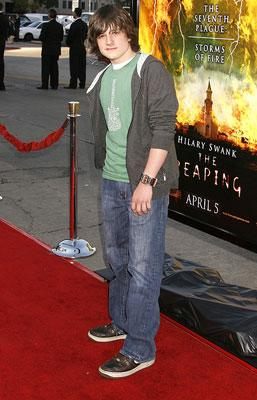 Josh Hutcherson at the Los Angeles premiere of Warner Bros. Pictures' The Reaping