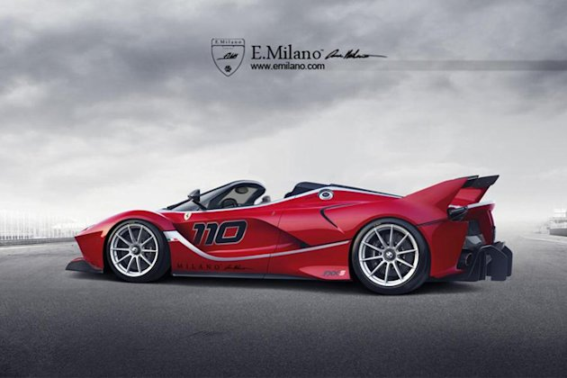 ferrari fxx k spider drawing