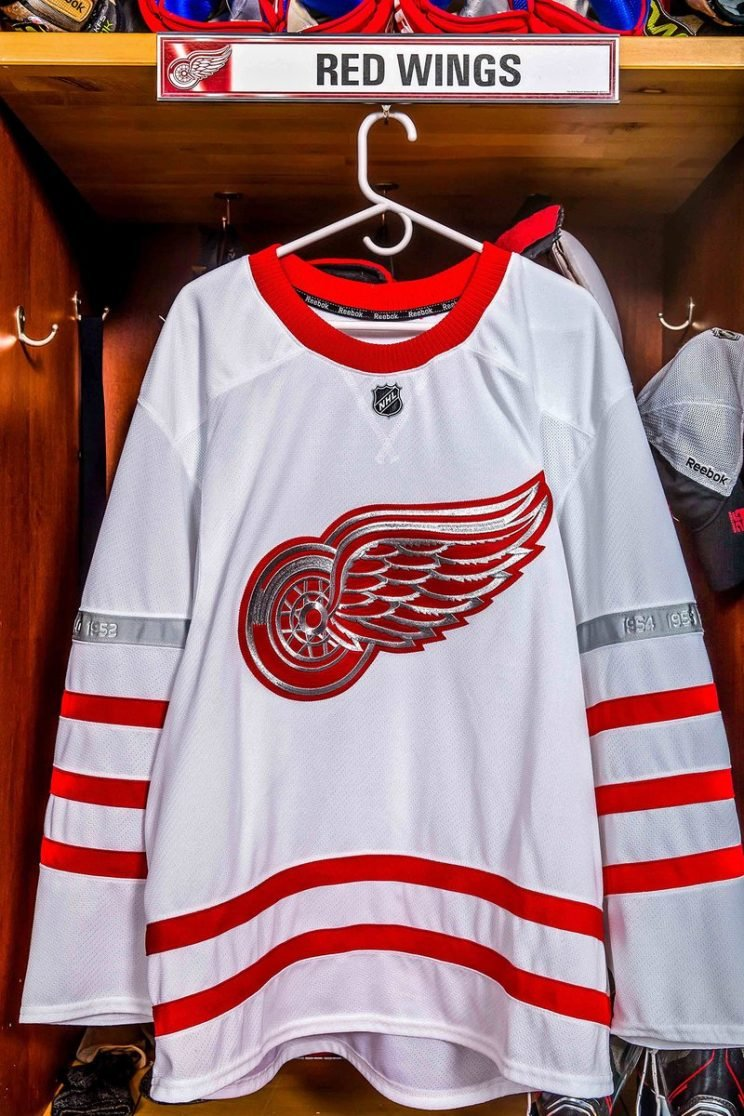 Detroit Red Wings Centennial Classic jersey.