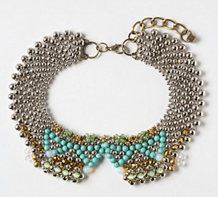 Moonstone Collar Necklace, $58