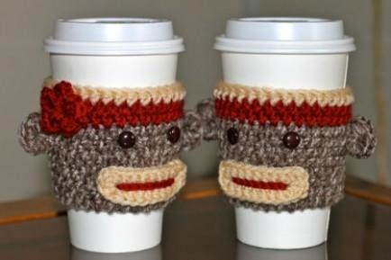 Crochet Sock Monkey Cozies