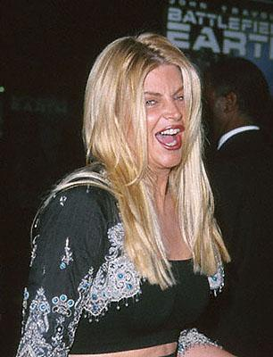 Kirstie Alley at the Mann's Chinese Theater premiere of Warner Brothers' Battlefield Earth