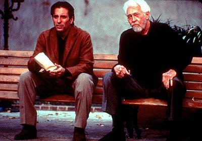 Andy Garcia and James Coburn in IDP's The Man From Elysian Fields