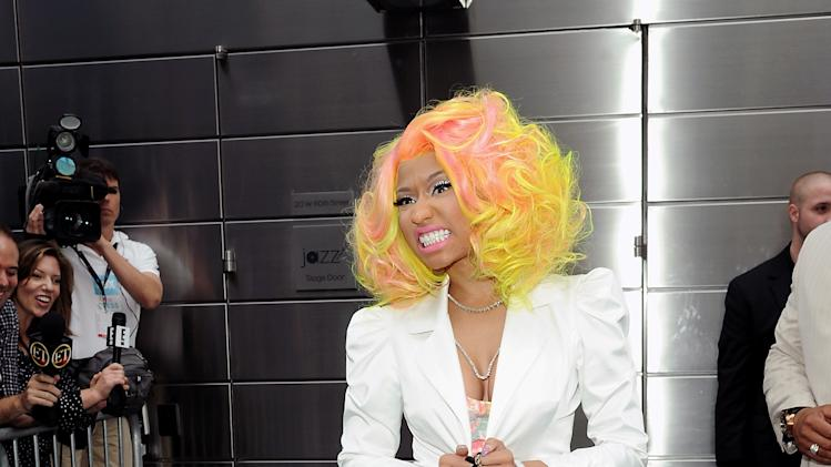 """American Idol"" Season 12 judge Nicki Minaj arrives for day one auditions at Jazz at Lincoln Center on Sunday, Sept. 16, 2012 in New York. (Photo by Evan Agostini/Invision/AP)"