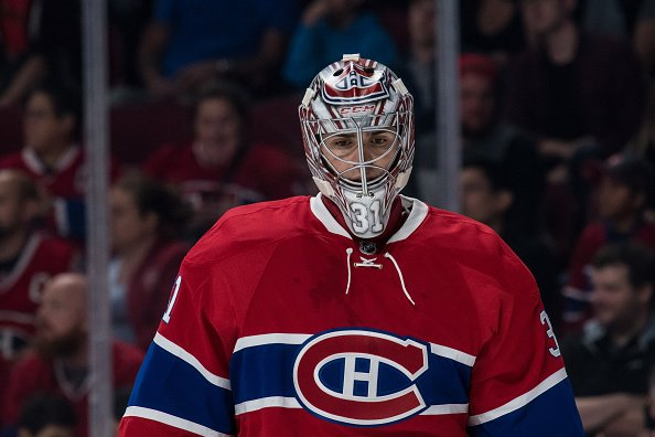 October 6, 2016: Montreal Canadiens goalie Carey Price (31) during the second period of a preseason NHL game between the Toronto Maple Leafs and the Montreal Canadiens at the Bell Centre in Montreal, QC (Photo by Vincent Ethier/Icon Sportswire via Getty Images)
