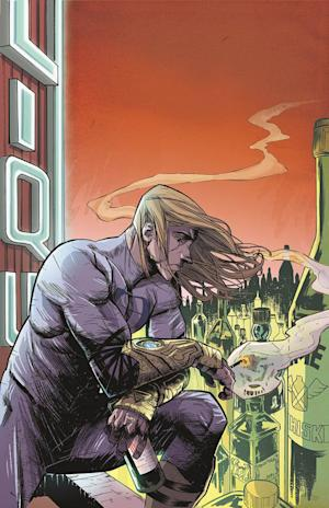 "This image provided by Dark Horse Comics shows Ruben, the protagonist in Donny Cates' and Mark Reznicek's ""Buzzkill"" . Cates called the four-part mini-series, out Wednesday, Sept. 18, 2013 and illustrated by artist Geoff Shaw and colored by Lauren Affe, a sobering look at the relationship between power and addiction and ""the very real consequences of both"" on a person and their livelihood. (AP Photo/Dark Horse Comics)"