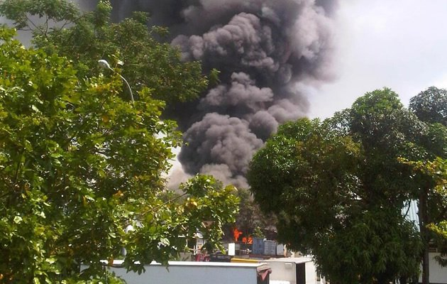 SCDF personnel are battling a raging fire at Link Road