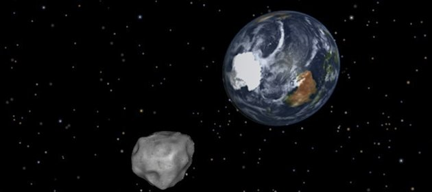 This NASA graphic depicts the Earth flyby by the 45-meter wide asteroid -- dubbed 2012 DA 14. NASA is keeping close tabs on the sizable asteroid, which is set to whiz past our planet Friday in what the US space agency says is the closest flyby ever predicted for such a large object
