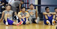 Cliff Hodge, Chris Tiu, Junmar Fajardo and Vic Manuel. (PBA Images)