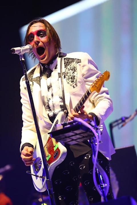Arcade Fire performs at the 2014 Coachella Music and Arts Festival on Sunday, April 20, 2014, in Indio, Calif. (Photo by Zach Cordner/Invision/AP)