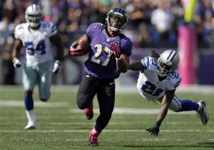 Jones' kick return lifts Ravens over Cowboys 31-29