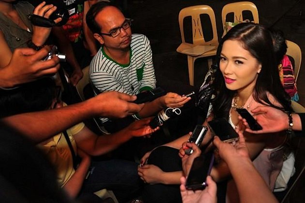 "Maja Salvador during the pictorial for her upcoming soap opera ""Ina, Kapatid, Anak"" held inside the ABS-CBN compound in Quezon City on 07 September 2012. (George Calvelo/NPPA Images)"