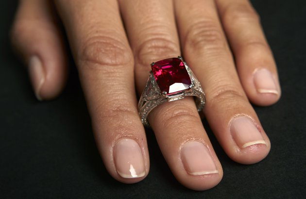With a gem like this, you'd definitely need proof of purchase. But it's true for tiny items, too. (Reuters)