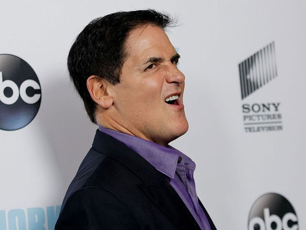 Mark Cuban gets Schwifty with it. (Getty Images)