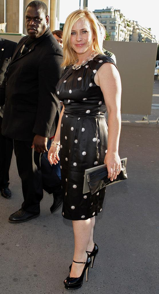 Patricia Arquette arrives  at the Giorgio Armani '09 Spring Summer Haute Couture fashion show on June 30, 2008 in Paris, France.