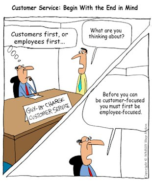 Customer Service – Start with the End in Mind image Customer First or Employee First Low Res