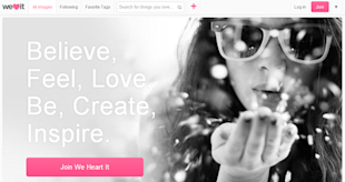 How to Get Started With We Heart It [Complete Guide] image Get Started With We Heart It by Setting up a New Account