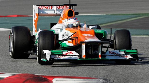Paul di Resta, Force India, testing 2012