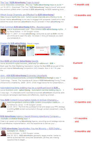 Old Content is the King of Content Marketing image b2b advertising search results