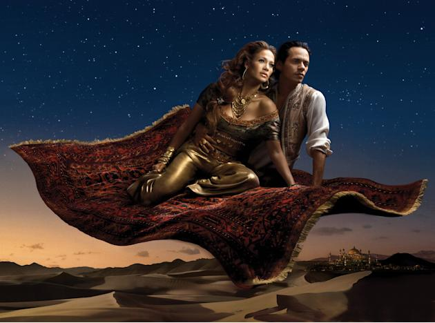 Disney Dreams: Jennifer López and Marc Anthony as Aladín and Princess Jasmine