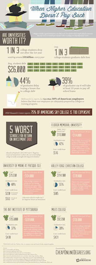 When Higher Education Doesnt Pay Back [Infographic] image overpriced1