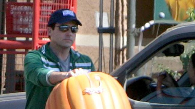 **EXCLUSIVE** Steve Carell prepares for Halloween with a trip to his local Target store