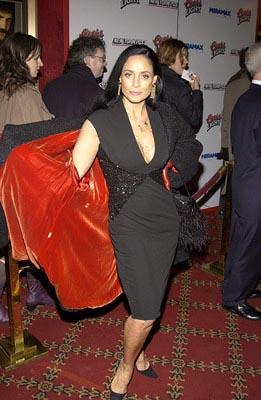 Sonia Braga at the New York premiere of Miramax's Gangs of New York