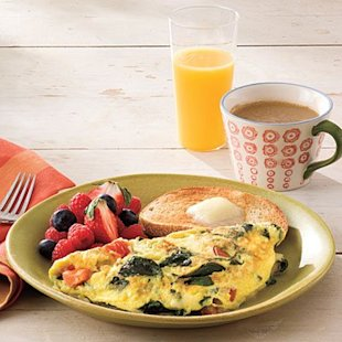 In 3 easy steps you can have perfect omelets like this Spinach-and-Cheese Omelet.